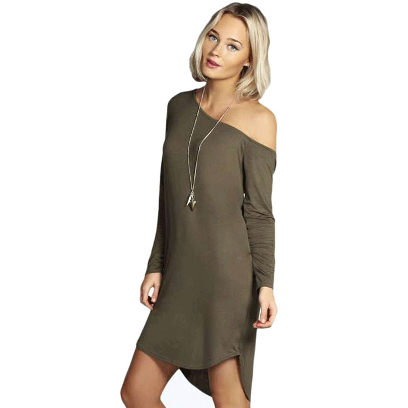 Plus size women t shirt dress 2015 new long sleeve ladies Women s long sleeve shirt dress