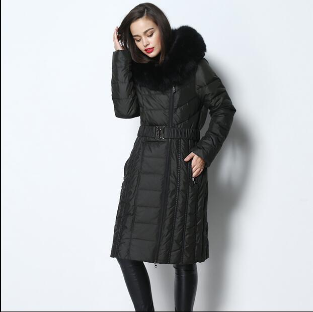 2016 new hot winter Thicken Warm woman Down jacket Coats Parkas Outerwear Hooded fox Fur collar luxurious  long plus size 4XXXXL 2016 new hot winter thicken warm woman down jacket coats parkas outerwear hooded fox fur collar luxurious long plus size 3xxxl