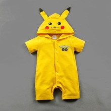 Fashion infant pikachu romper kids costumes for baby pokemon costumes