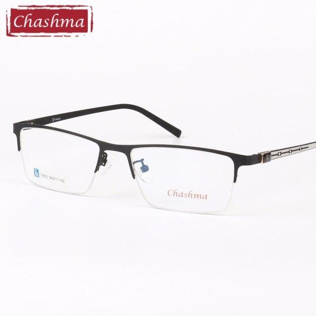 Chashma Marca Super Qualidade Braços Óculos Ópticos Quadro Masculino De  Borracha Semi Óculos de Armação Óculos 2e8989279f