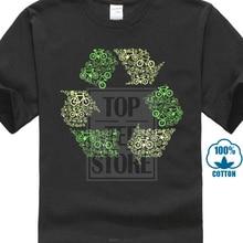 Recycling Logo T Shirt Top Bikeer Ecology Environment Wwf Greenpeace Vegan Animals
