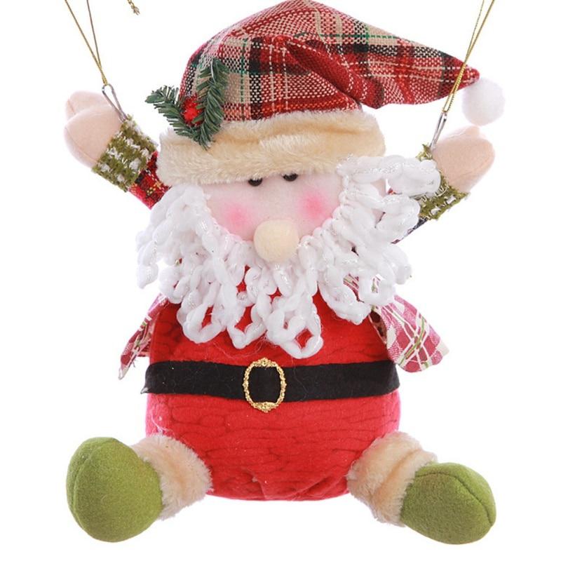Новый Рождество кукла парашют мультфильм Ткань Санта Клаус Снеговик Рождество Украшение Подвеска подарок домашний праздник decora ...