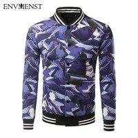 Envmenst 2017 Spring Autumn Men Clothes 3D Printed Slim Fit High Quality Casual Men Jackets Coats