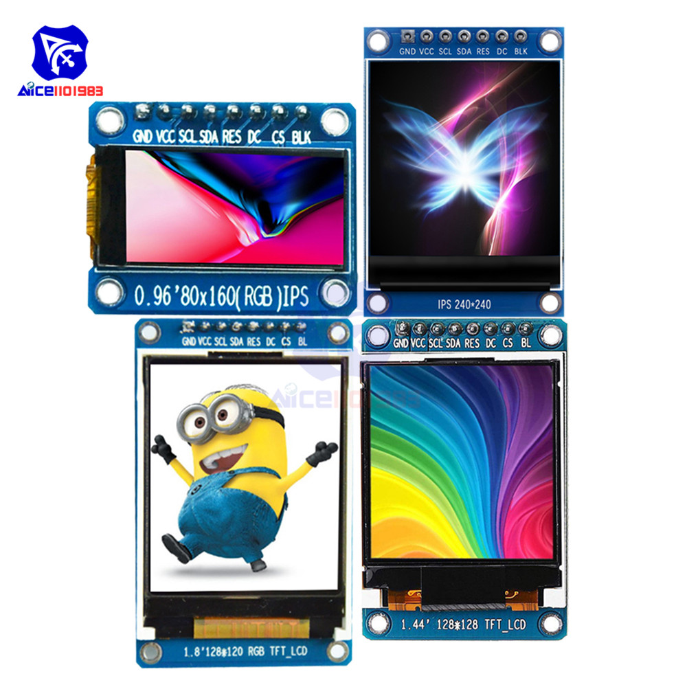 0.96 80*160 1.3 240*240 1.44 128*128 1.8 128*160 IPS TFT LCD Screen Display Module ST7735 SPI Interface for Arduino 51 STM32 image