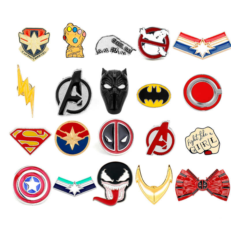 Avengers Endgame Spille Marvel Comics Captain America Marvel Thanos Infinity Gauntle Spille Spille Badge Cosplay Gioielli Regali