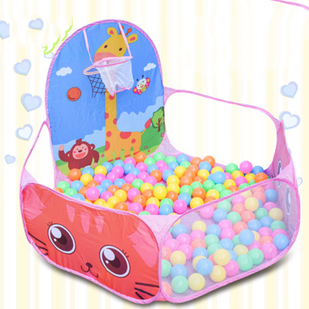 Portable Kids Playpen Carton Indoor Outdoor Baby Pool Balls Children's Playpen Folding Playgroung Baby Ball Pool Children Fence