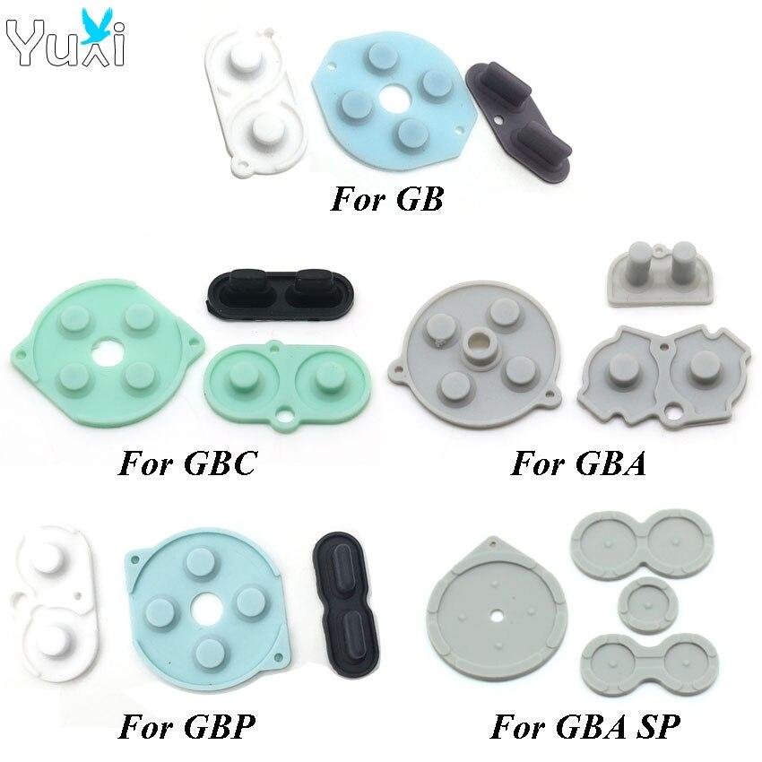 YuXi caoutchouc conducteur boutons A d-pad pour GameBoy GB GBC GBP GBA SP Silicone commencer sélectionner clavier