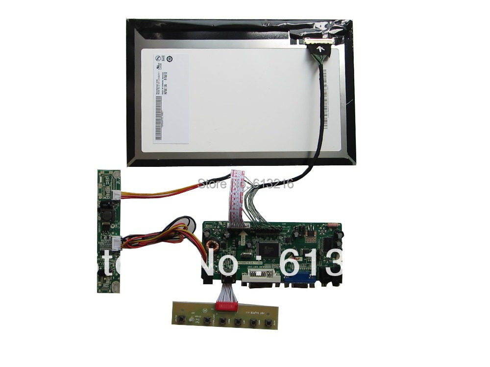 HDMI+DVI+VGA+Audio  LCD driver  board  +B101UAN02.1 with 1920*1080+LVDS cable +LED driver board +OSD keypad with cable