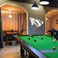Dctal Adesivo de Bilhar Snooker Bilhar Cartazes de Parede Decalques Da  Parede do Vinil Decor Mural Adesivo Decalque 1ea1a9e73141e