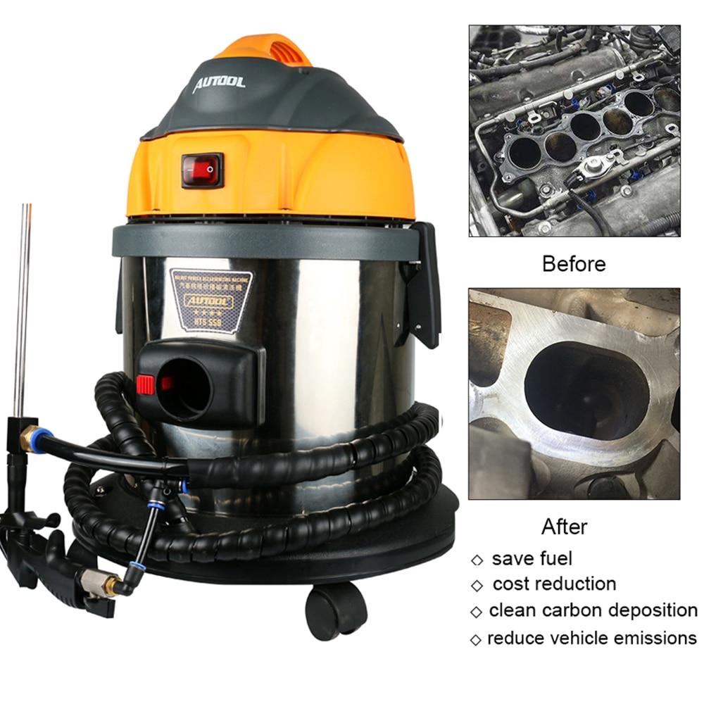 AUTOOL 220V/110V Car Engine Clear Carbon Deposits Car Wash Machine Walnut Sand Diesel Gasoline Engine System Clean Maintain