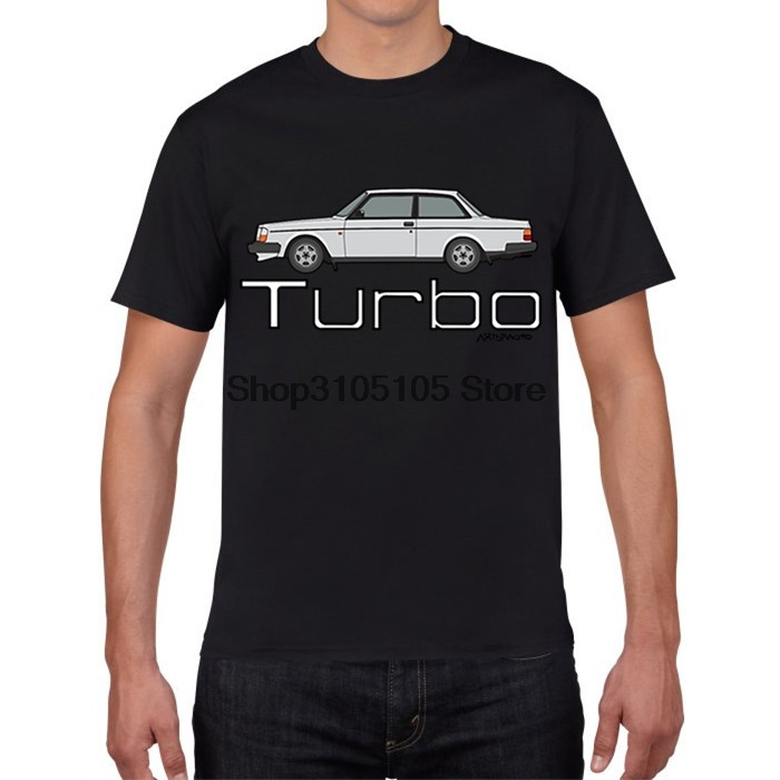 GILDAN designer t shirt T Shirt Men Volvo 242 Coupe Turbo Youth 100% Cotton Short Sleeved Round Neck T-Shirts