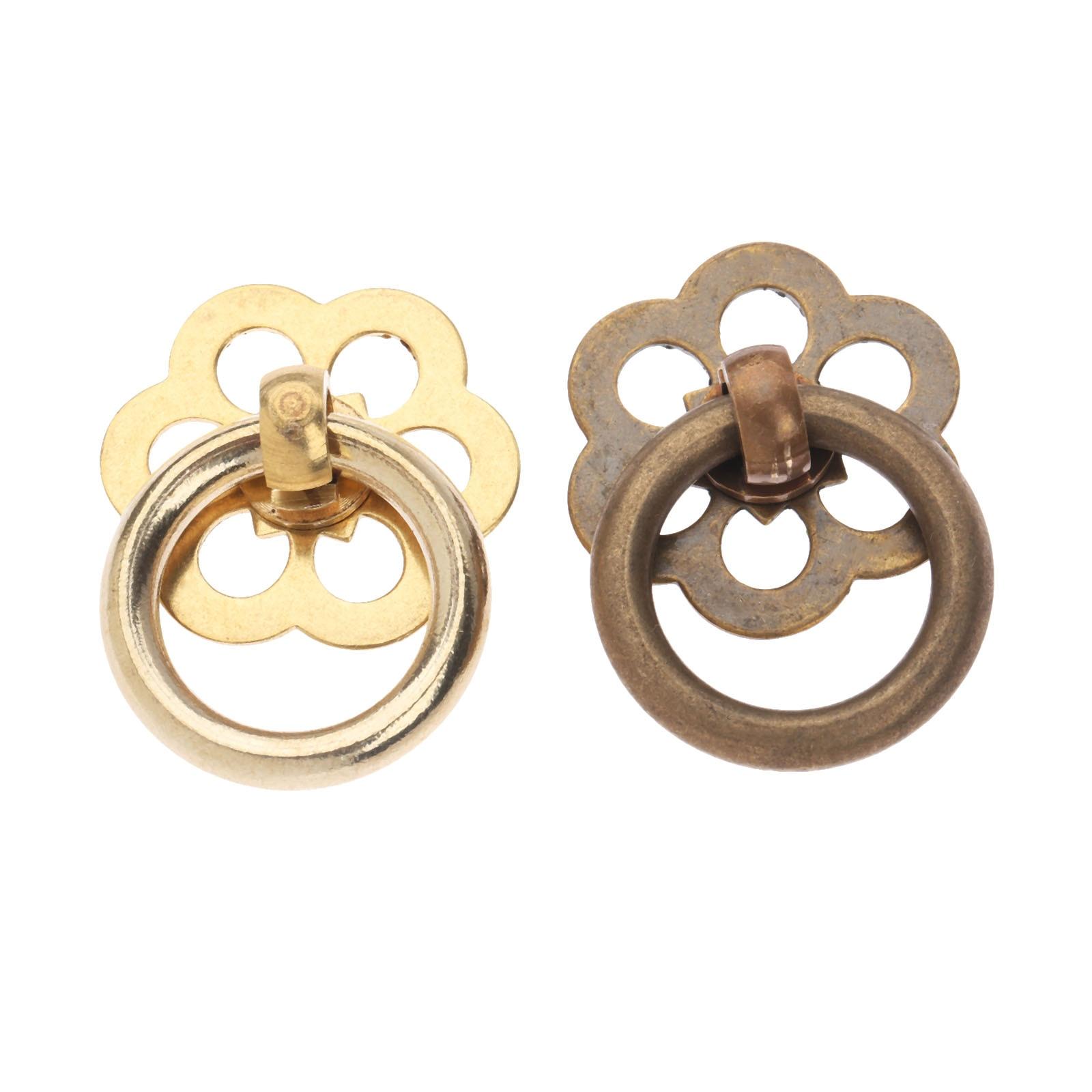 Dreld Vintage Brass Jewelry Box Ring Knobs Furniture
