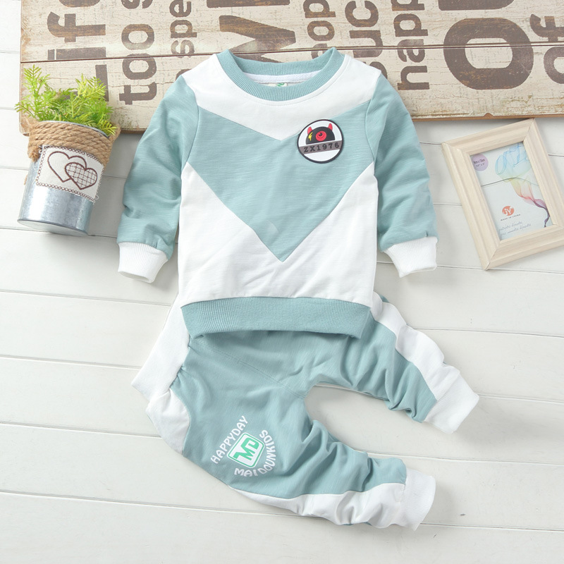 2018 2pcs Kids Spring Clothes Children Sports Set Baby Boys Girls Suit Fashion Pullover Cartoon Cotton Toddler Tracksuit Costume fashion kids baby girl dress clothes grey sweater top with dresses costume cotton children clothing girls set 2 pcs 2 7 years