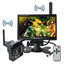 """Cls System Bezprzewodowy IR Widok z tyłu Back up Camera Night Vision + 7 """"Monitor dla RV Ciężarówka Sierpnia 12"""