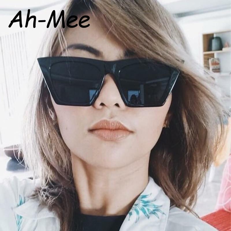 Cat Eye Sunglasses Women Luxury Brand Designer Elegant Oversize PC Frame Gradient Candy Sunglasses De Sol Feminino UV400