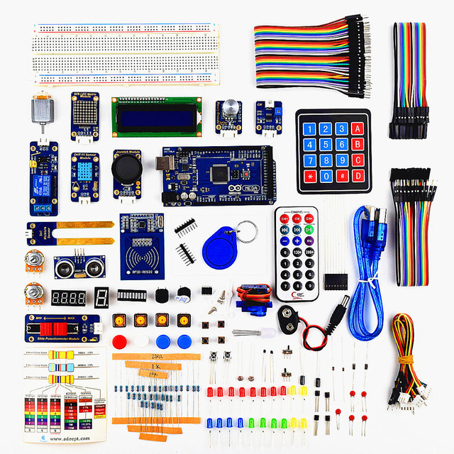 Adeept DIY Electric RFID Starter Kit for Arduino MEGA 2560 with Ardublock Book Processing Freeshipping  Book diy diykit