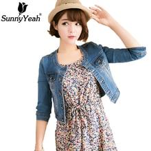 SunnyYeah Denim Jacket Women Basic Coats 2018 Ladies Jeans Jackets Woman Streetwear Slim Casual Outwear Female Jaqueta Feminina