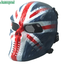 premium sports skull half face mask airsoft paintball full face skull skeleton cs mask tactical military - Premium Halloween Masks