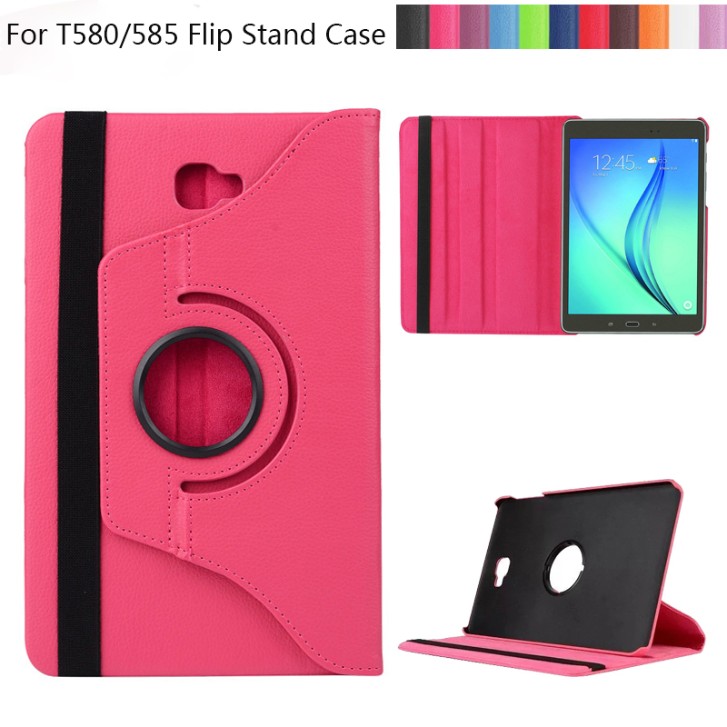 360 Rotating Litchi skin PU Leather case cover capa para for Samsung Galaxy Tab A 10.1 T580 T585 Tablet PC cover solid v neck slim skater dress