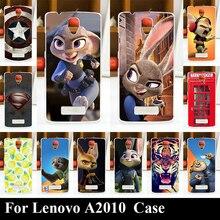 Caso para lenovo a2010 impressão colorido desenho duro casos de telefone tampa do telefone de plástico transparente para lenovo a2010