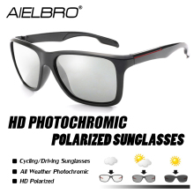 AIELBRO Polarized Photochromic Cycling Glasses Bike Outdoor Sports MTB Bicycle Sunglasses Goggles Eyewear Myopia Frame