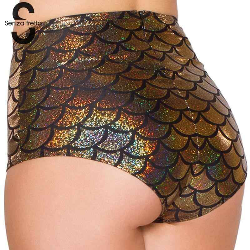 d950dc96b98 ... Senza Fretta Sexy Lingerie Women High Waist Scale Mermaid Briefs Sexy  Panties Shorts Underwear Black Red ...