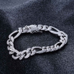Image 4 - TOPGRILLZ Gold Silver Color Iced Out Cubic Zircon Cuban Chain Link Bracelet Men Hip Hop Charm Trend Jewelry Gifts