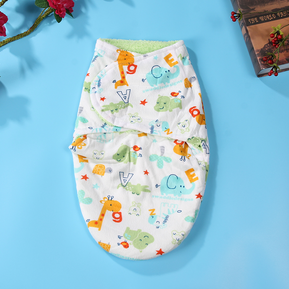 Double-Layer-Sleeping-Bag-Baby-Short-Plush-Swaddling-Clothes-Newborn-Sleep-Sacks-Warm-Clothes-Girl-Boys-4