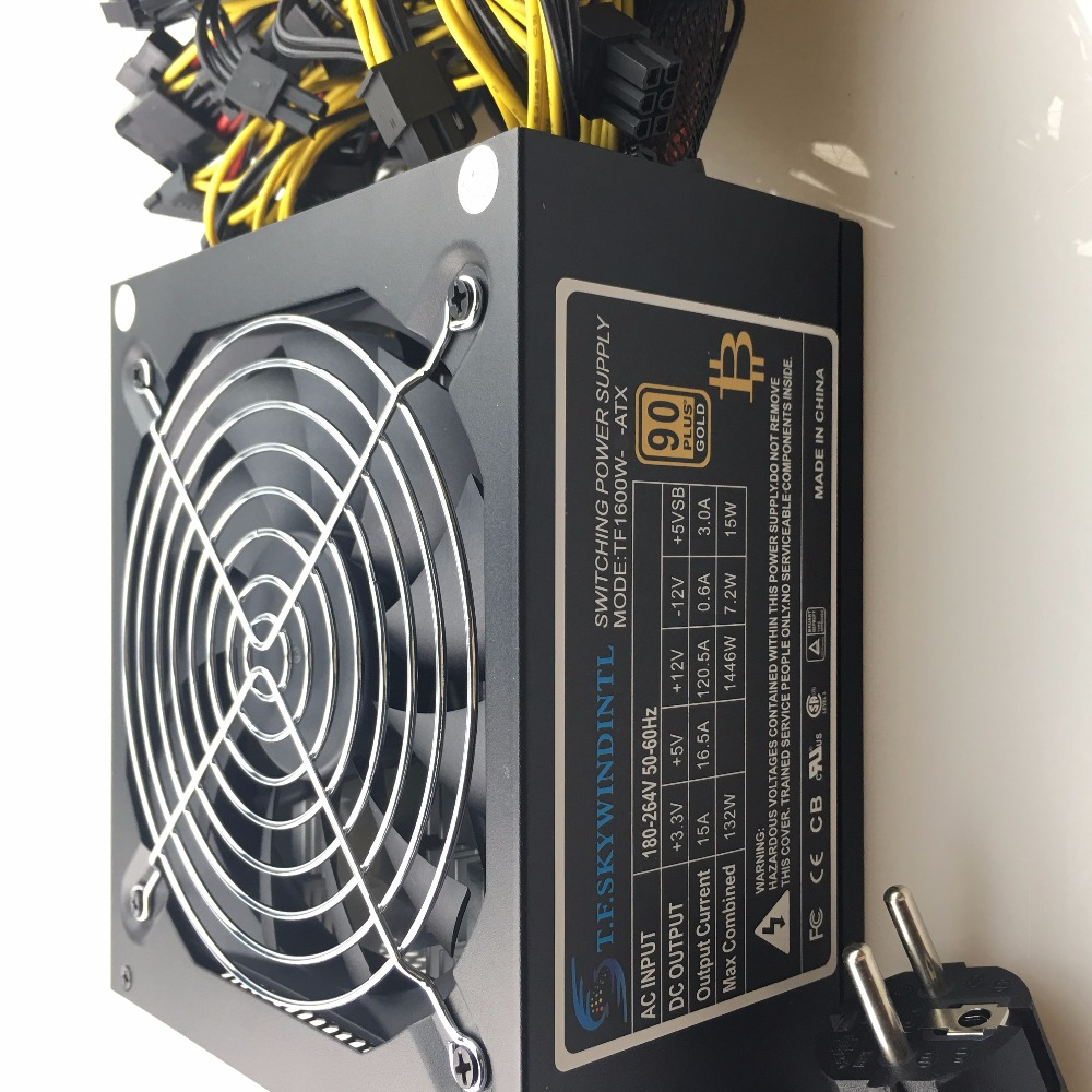 Купить с кэшбэком free ship 1600w computer power supply mining rig antminer pico psu asic bitcoin miner for rx 470 rx 580 rx 570 rx480 atx btc