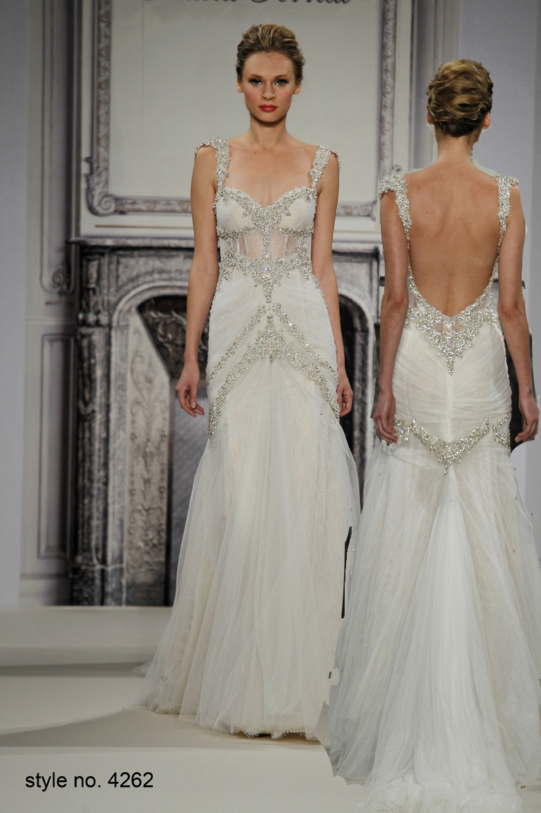 Pnina Tornai Romantic Mermaid Beaded Wedding Dresses With Spaghetti ...
