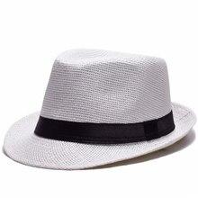20e6e30c181 summer men women's eyelet straw jazz fedora hat beach top ribbon cap beige  brown khaki white