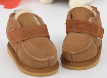 Real Wool Baby Snow Boots Sheepskin Winter Warm Baby Shoes Cotton-Padded Toddler Shoes Baby Girls And Boys First Walkers