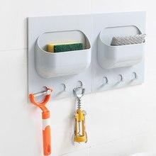 цены на Kitchen Seamless Strong Paste Plastic Racks Bathroom Living Room Multifunctional Suction Wall Rack Hook  в интернет-магазинах