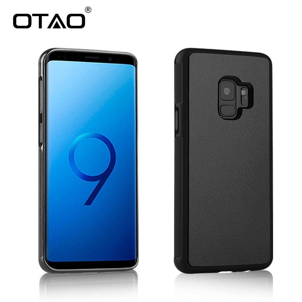OTAO Anti Gravity Phone Case For Samsung S9 S8 S7 S6 S5 Edge Plus Note 8 7 5 4 For iPhone X 8 7 6S 6 Plus Adsorbed Cover Cases pierre cardin crystal leather coated pc back case for iphone 7 plus 5 5 dark brown