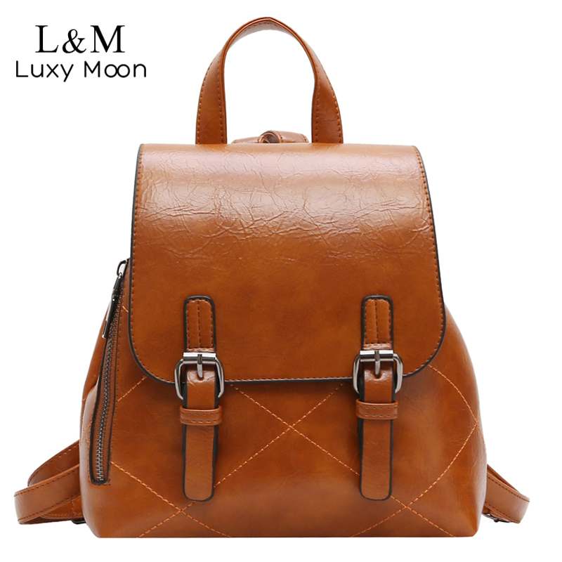 Vintage Women Backpack Korean Oil wax Leather Rucksack Fashion Drawstring School Back packs For Girls Hasp Travel Bags XA243HVintage Women Backpack Korean Oil wax Leather Rucksack Fashion Drawstring School Back packs For Girls Hasp Travel Bags XA243H