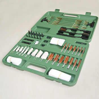 Green World 62pcs/lot Hunting Universal Gun Cleaning Kit ,Cleaning Kit for Rifle Pistol Shotgun