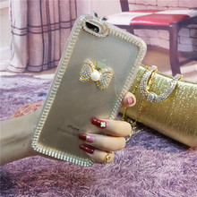 XINGDUO Bow tie case Fashion Bling Crystal Rhinestone Clear Case Cover Transparent Soft shell For Huawei mate 20 pro/ P30 P20PRO