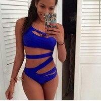 2015 Summer Styles Solid Color Jumpsuits Bikini Women S Swimwear Sexy Low Waist Bikin Beach