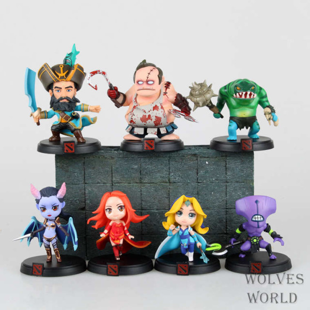 Free shipping Spot WOW DOTA2 game doll fire woman female butcher ice  PVC Action Figure Collectible Toy 7pcs/set Birthday gifts fire maple sw28888 outdoor tactical motorcycling wild game abs helmet khaki
