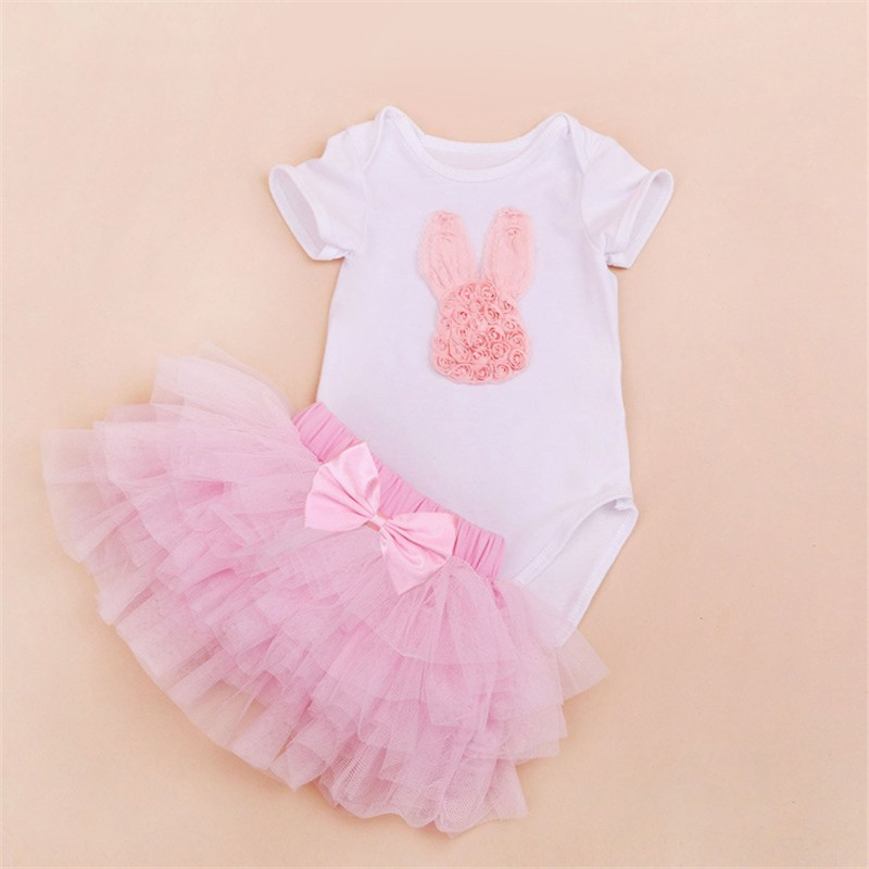 Tutu Baby Birthday Set Summer Short Sleeve Roupas Infantis Bebes 1st Birthday Outfit+Tutu Pettiskirt Dress Party Clothing Sets 11