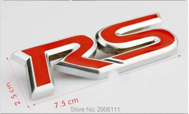 3d Rode Metalen Rs Alfabet Auto Logo Sticker Voor Chrysler 300c 300