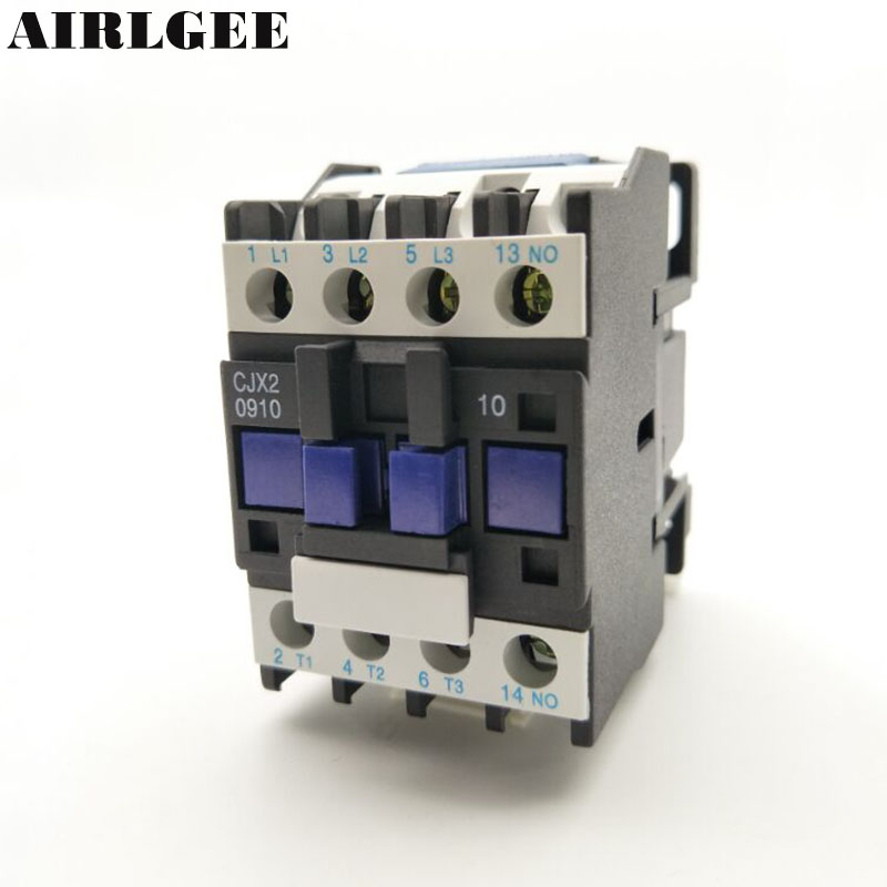 CX2-0910 LC1D 3-Phase 3P+1NO Normal Open 9A AC Contactor 50Hz 24 36 110 220,380V Coil Voltage CX2-0910 LC1D 3-Phase 3P+1NO Normal Open 9A AC Contactor 50Hz 24 36 110 220,380V Coil Voltage