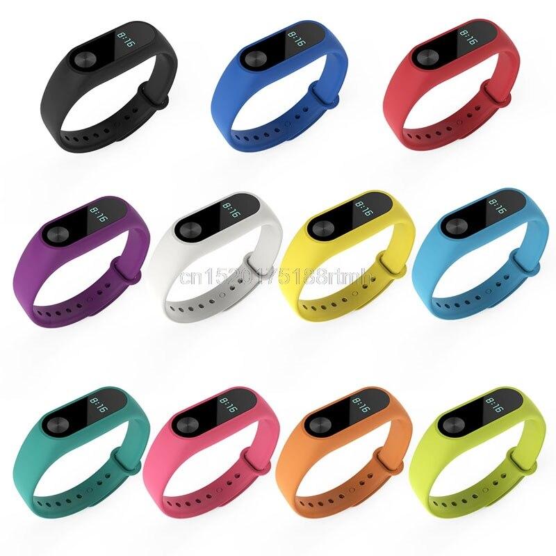 JAVRICK TPU Replacement Wristband Bracelet Bangle Watchband For Xiaomi Mi Band 2