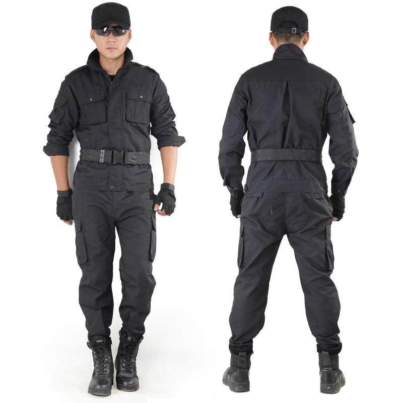 где купить Mens Outdoor Hunting Clothing Policemen Outfit Army Black Hawk Military Suit Tactical Clothes Uniform Outfit CS Combat Suits по лучшей цене
