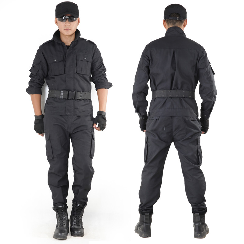 Mens Outdoor Hunting Clothing Policemen Outfit Army Black