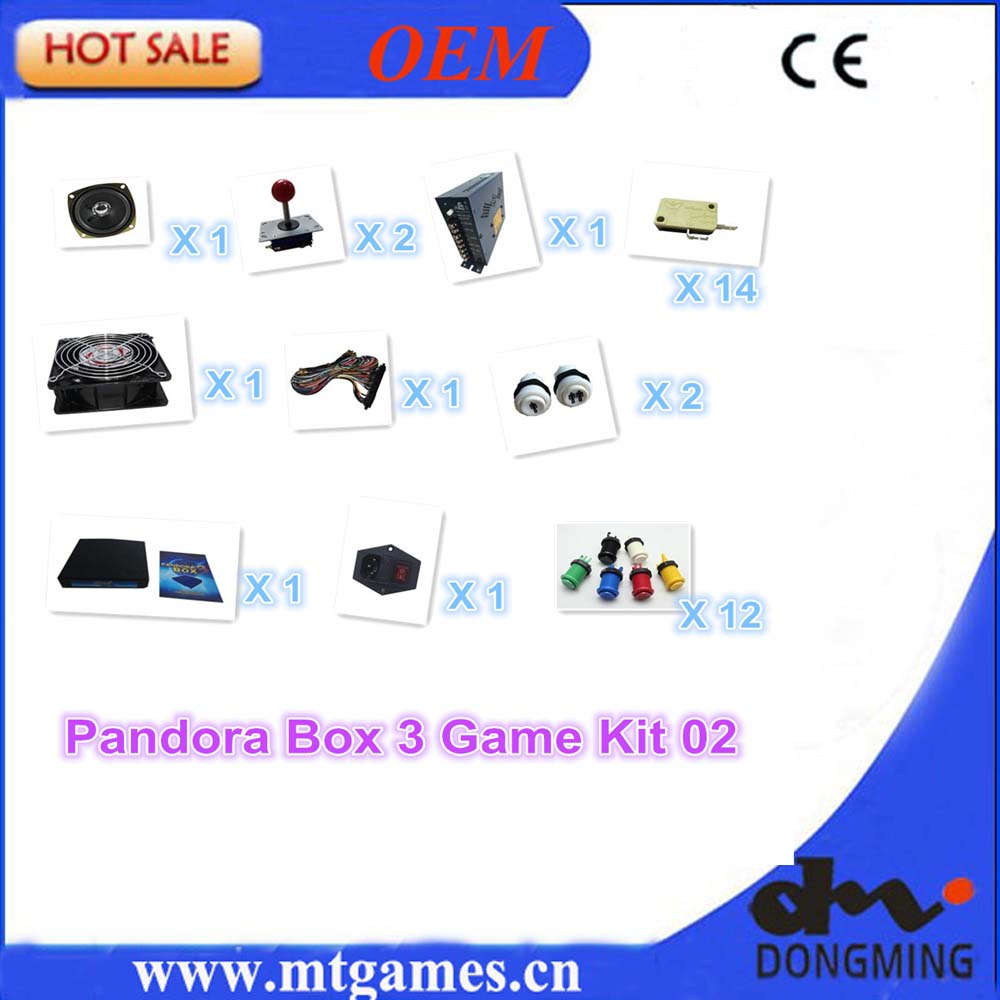 Jamma Arcade game kit with pandora box 3/520 in1 game board ,joystick ,Buttons ,fan, switch,power supply for arcade game machine wholesale price pandora s box 3 arcade slot game board