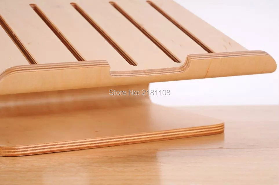 Birch Walnut Wooden Dock Laptop Cooling Cooler Stand