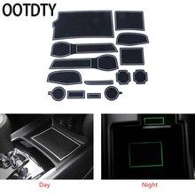 OOTDTY Car Door Gate Slot Mat Non-slip Cup Rubber Pad For nissan qashqai j11 2014-2016