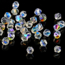 AAAAA Quality 720pcs Big Bag crystal AB 4mm Bicone Crystal Beads Glass Beads Loose Spacer Beads for Jewelry Making Accessories