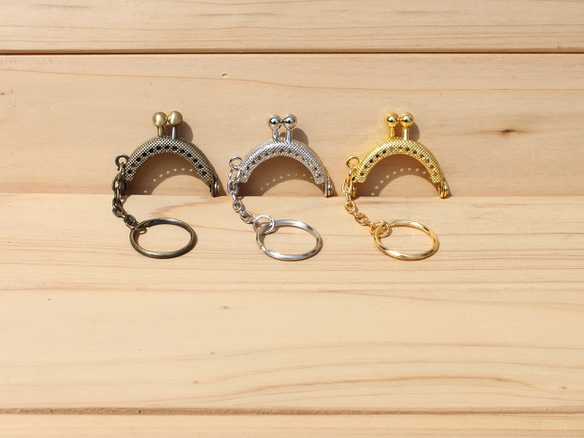 4cm 20pcs/lot coin purse metal frames purse frame with key ring handbag clasp kiss lock frame clutch free shipping S0016